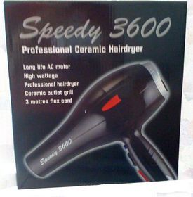Speedy 3600 Professional Ceramic Hair Dryer (Black