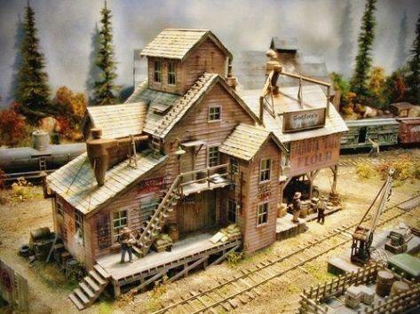 Pin On Model Train Town Usa