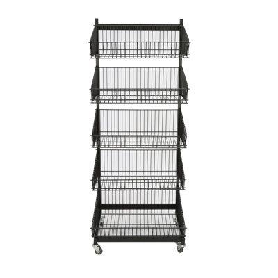 3 x 5 Tier Display Stand Retail Rotating Adjustable Hanger Rack Organizer UK