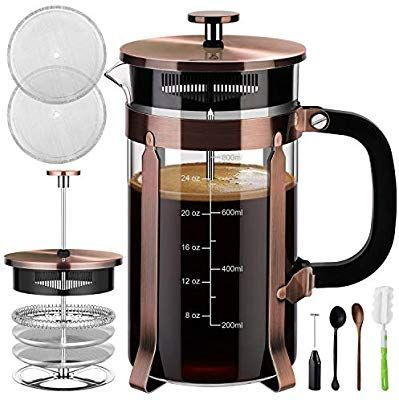 Amazon Com Veken French Press Coffee Maker 34 Oz 304 Stainless