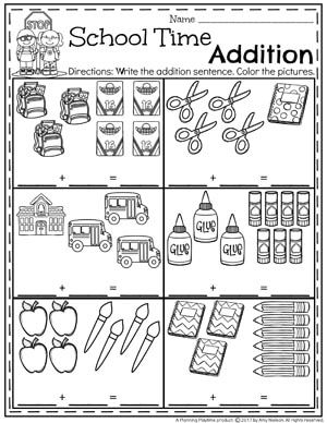 Addition Worksheets Planning Playtime Kindergarten Math Activities Kindergarten Math Math For Kids