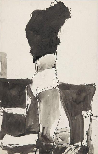 kunst: Richard Diebenkorn (US 1922 - Figure changing clothes (ink) Richard Diebenkorn, Figure Painting, Figure Drawing, Painting & Drawing, Painting Abstract, Art And Illustration, Illustrations, Bay Area Figurative Movement, Figurative Kunst