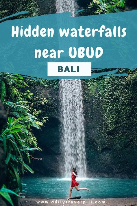 Looking for hidden waterfalls near Ubud, Bali? Look no further. This article includes the most beautiful secret waterfalls near Ubud. Check it out! #ubud #bali #baliwaterfalls #ubudwaterfalls #balihiddenwaterfalls #hiddenwaterfalls #chasingwaterfalls #ubudhiddenwaterfalls