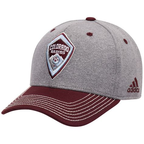 new style f8551 f95bb Men s Colorado Rapids adidas Gray Burgundy Two Tone Structured Adjustable  Hat, Your Price   24.99