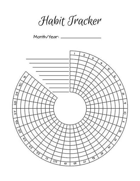 Bullet Journal Habit Trackers Circle Habit Tracker Habit