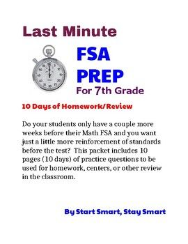 10 DAYS of 7TH GRADE FSA Test Prep for Florida Standards Assessment
