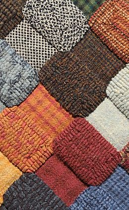 Wool Quilting Wool for Fiber Art and Crafting off the Bolt Wool Applique 100/% Wool Bundle of 4 Fat Quarters Rug Hooking