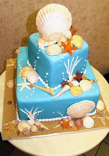 Cake Boss Cake - my entire childhood was loving horses and collecting sea shells. This is my wedding cake, only mine won't have bubbles or plants growing, and it'll be more layers.