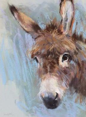 Donkey Ane Dessin Peinture A L Huile La Peinture De Vache