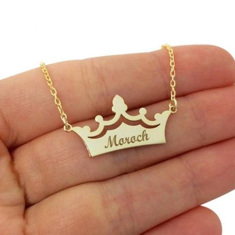Custom Crown Name Necklace, Personalized Name Necklace, Crown Necklace, Princess Necklace, Silver Na