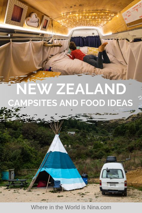 New Zealand Campsites and Food Ideas