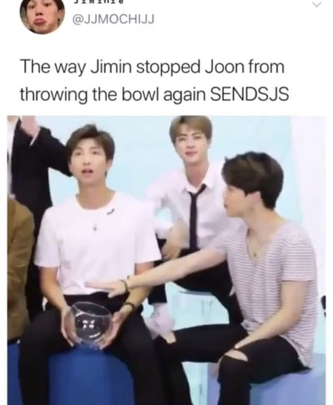 Jimin knows how it will end if Namjoon keeps throwing it lol