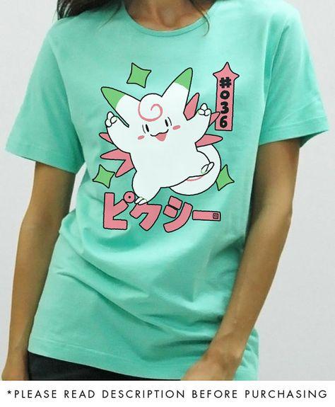 Shiny Clefable Pokemon Hoodie Clefable Shirt Pokemon Sweatshirt Pokemon Shirt