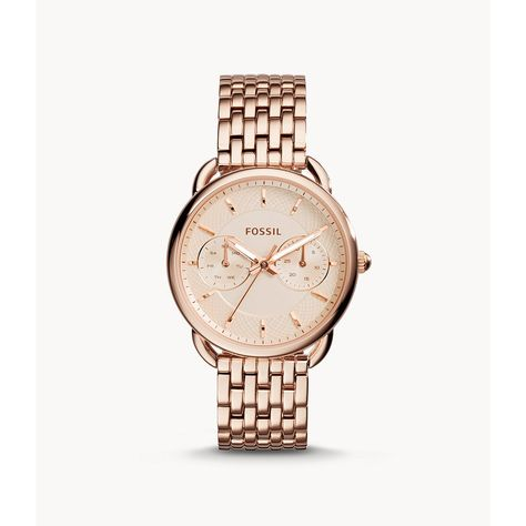 Fossil Tailor Multifunction Rose-Tone Stainless Steel Watch - Rose Gold N/A
