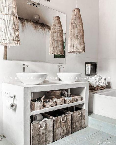 """madein ailleurs🌵 on Instagram: """"En amour devant cette salle de bain ••••••• #decorationinterieur #deco #inspiration #interiordesign #picoftheday #homedecor #decointerieur…"""""""