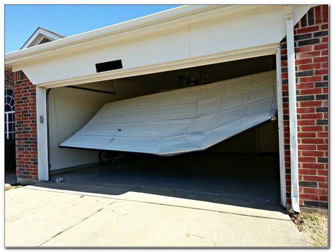 How To Open A Damaged Garage Door Broken Garage Door Garage Doors