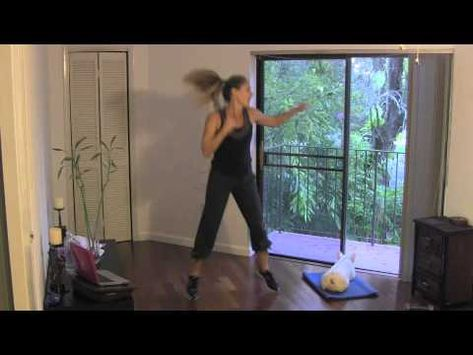HIIT Mash Up (kickboxing, sculpting, HIIT, cardio, pilates, toning, fat burning) - work hard at home with fitness instructor Jessica Smith (and her pup Peanut) with this hour-long sweat fest!