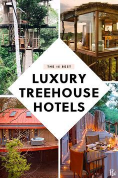 hotel de luxe 15 Luxury Treehouse Hotels to Live Out Your Childhood Dreams inspiration Treehouse Vacations, Treehouse Hotel, Vacation Places, Dream Vacations, Places To Travel, Vacation Travel, Romantic Vacations, Romantic Travel, Romantic Getaways