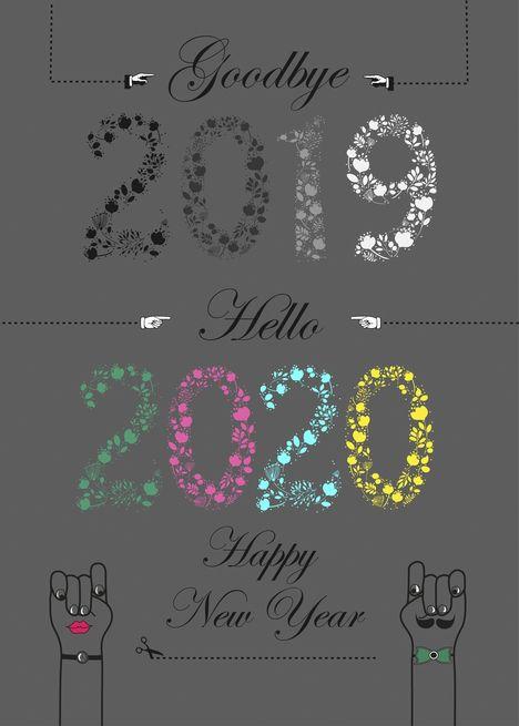 Goodbye 2018 Hello 2019 Happy New Year Festive Floral Card Ad Ad Happy Goo Happy New Year Wallpaper Happy New Year Greetings Happy New Year Pictures