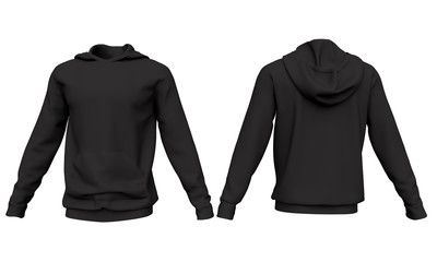 Mockup Men Black Hoodie Isolated On White Background Front And Back View 3d Rendering Sponsored Hoodie Isolated Black Hoodie Men Black Hoodie Hoodies
