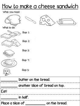 Procedure Text How To Make Sandwich : procedure, sandwich, Procedure, Writing, Template, Differentiated, Procedural, Writing,, Worksheets,, Templates