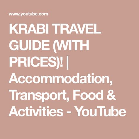Krabi Travel Guide With Prices Accommodation Transport