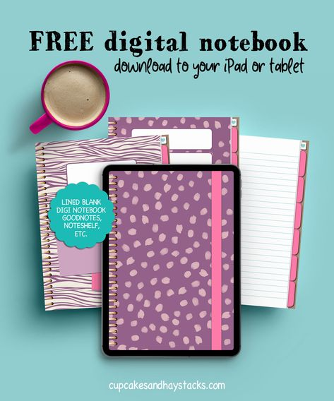 You're going to LOVE this digital notebook! And the best part? Its completely FREE! Inside you'll find a hyper-linked index page, six subjects with dividers, clickable tabs and lined paper! Journal, take down prayer request and sermon notes, or take notes for your online course! Its completely up to you :) Download to your iPad or tablet today! #freebie #free #freedownloadables #plannergirl #digitalplanner #journaling Bullet Journal Banner, Bullet Journal Writing, Bullet Journals, Kids Planner, Planner Pages, Bullet Journal Starter Kit, Ipad Hacks, Free Notebook, Digital Paper Free
