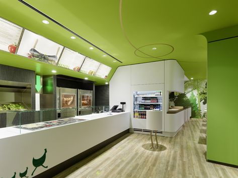 The Wienerwald Restaurant in Munich Displaying Bold Natural Colours and Fun Forest Graphics