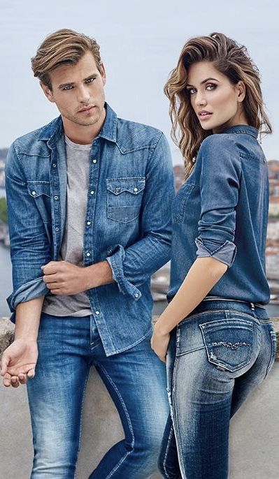 Pin By Falah Niloufar On Editorial Casal Jeans Couples Modeling Denim Photoshoot Couple Photoshoot Poses