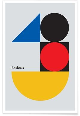 B For Bauhaus Poster Juniqe In 2020 Bauhaus Bauhaus Poster Design Iconic Poster