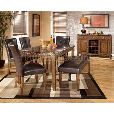 Lacey Rectangular Dining Room Table, 2 Side Chairs & Large UPH Bench by Signature Design by Ashley. Get your Lacey Rectangular Dining Room Table, 2 Side Chairs & Large UPH Bench at CLS Factory Direct, Columbus OH furniture store.