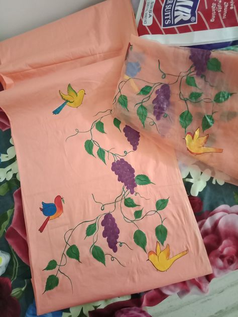 Hand painted pillows, Fabric painting