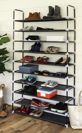 62 5in 10 Tier Shoe Rack Storage Tower W Adjustable Shelves With