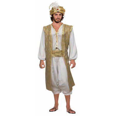 One Size DESERT PRINCE ALADDIN ARABIAN SHIRT /& VEST mens fancy dress costume