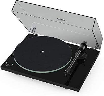 Pro Ject T1 Phono Sb Turntable With Built In Preamp And Electronic Speed Change Piano Black In 2020 Turntable Vinyl Records Electronic Speed Control