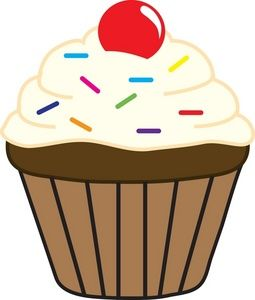 clipart sprinkles single cupcakery pinterest sprinkles clip rh pinterest com Cute Cupcake Clip Art clipart image of a cupcake