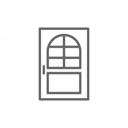 House Door Icon Stock Vector Affiliate Door House Icon Vector Ad In 2020 House Doors Image House Icon