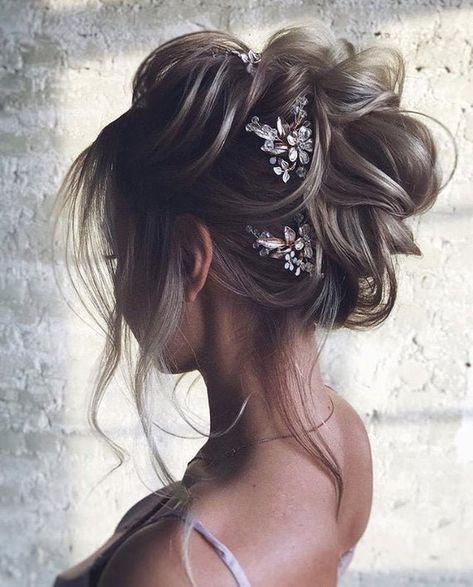 Long Hair Wedding Styles, Hair Comb Wedding, Wedding Hairstyles For Long Hair, Elegant Hairstyles, Wedding Hair And Makeup, Bride Hairstyles, Half Up Wedding Hair, Celebrity Hairstyles, Updos For Fine Hair