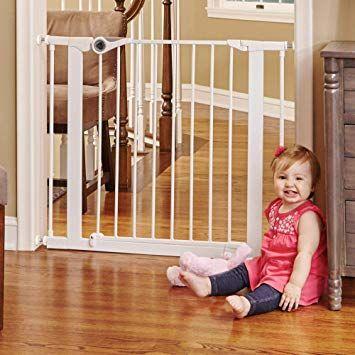 North States 38 1 Wide Essential Walk Thru Gate Ideal For Securing Hallways Or Doorways Extra Wide Doorway P Baby Gates Child Safety Gates Baby Safety Gate