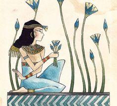 Beskrajne mudrosti fb stranica httpsfacebook egyptian lotus flower egyptian woman collecting lotus flowers by the nile 8x10 original mightylinksfo