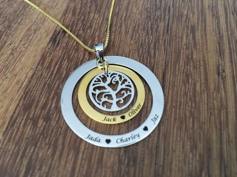 Engraved Family Tree Necklace - gift for mum