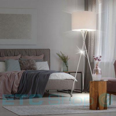 Design Steh Lampe Schlafzimmer Beistell Lese Dielen Leuchte Textil - lampe für schlafzimmer