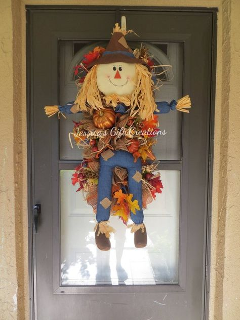 Scarecrow in Denim Wreath Kit head legs arms for Deco Mesh Wreath ha4014 NEW