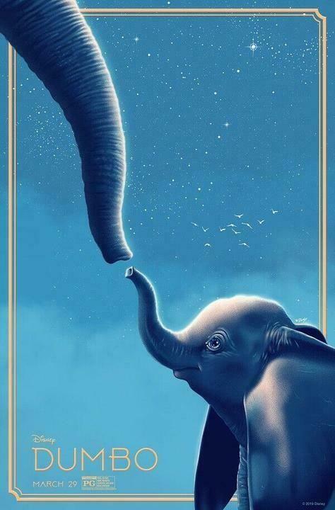 Details about Dumbo Tim Burton 2019 Movie Poster Art Print 13x20