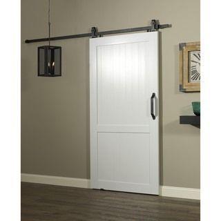 Millbrooke Barn Pvc And Metal 42 Inch H Style Sliding Door Barn Doors Sliding Wood Doors Interior Sliding Barn Door Hardware
