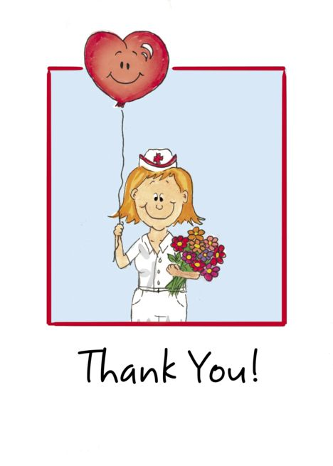 Happy Nurses Day Thank You Nurse With Flowers And Balloon