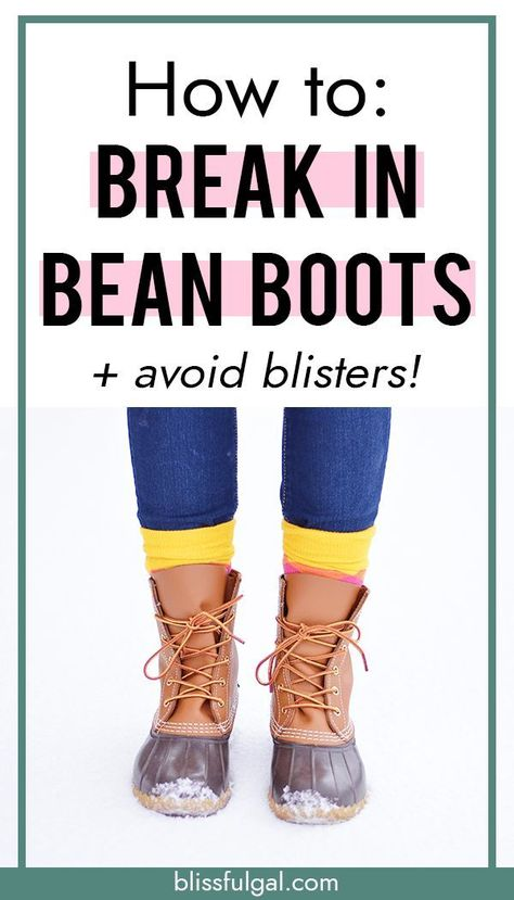 How to break in Bean Boots and avoid blisters! If you have new L.L. Bean Boots and want to know how to break them in, then this post is for you! Because sore feet and blisters are no fun! #beanboots #llbean #fallstyle #winterstyle #boots #fashioninspo #style #fashion #fashionblogger #fashiontrends #winter #winterfashion #style #styleblogger #styleinspiration