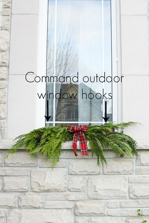 Holiday Hack Cable Organizers Make Hanging Garland So Much Easier Christmas Swags Outdoor Christmas Garland Simple Christmas Decor