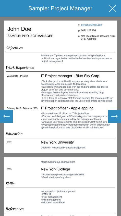 Resume design studio - Professional and stylish resumes designer - resume app