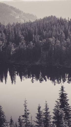 Free Image On Pixabay Canada Lake Black And White Calm